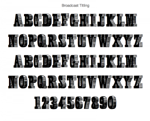 Broadcast Titling Font