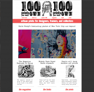 100 Prints You Must Own home page.
